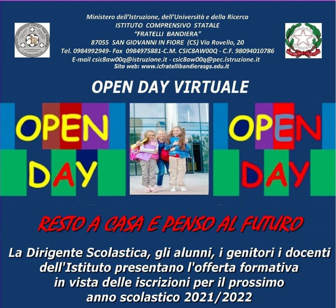 VIDEO OPEN DAY VIRTUALE